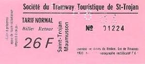 billet des années 80 à 26 francs